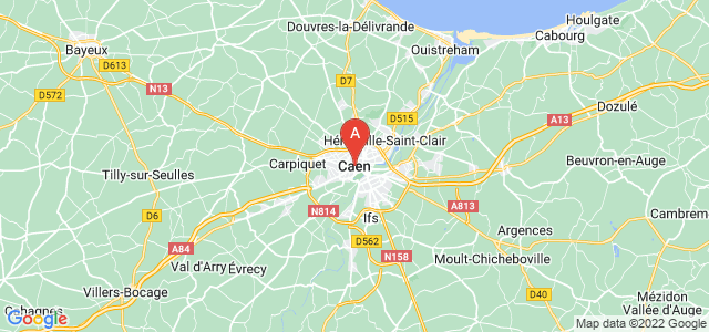 map of Caen, France