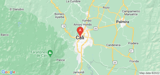 map of Cali, Colombia