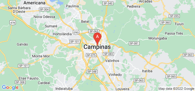 map of Campinas, Brazil