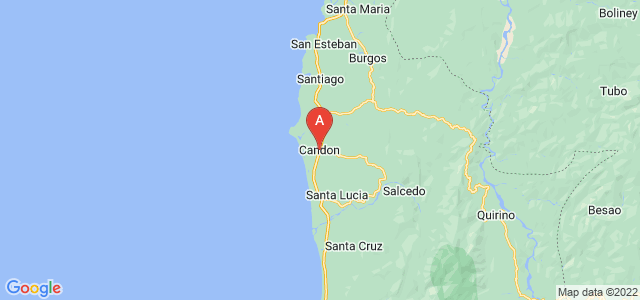 map of Candon, Philippines