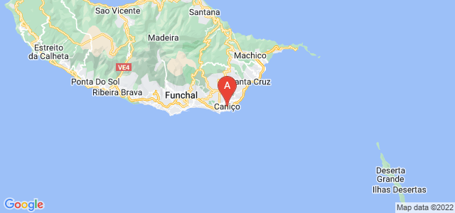 map of Caniço, Portugal