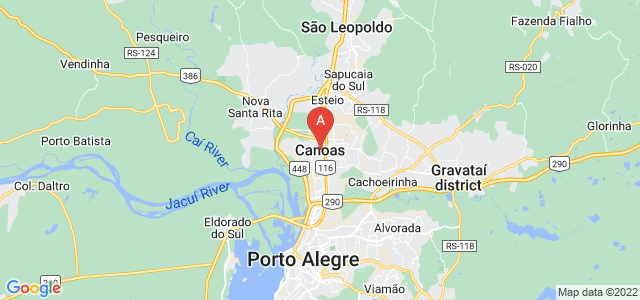map of Canoas, Brazil