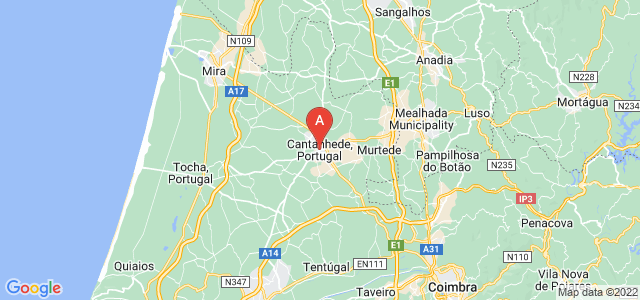 map of Cantanhede, Portugal