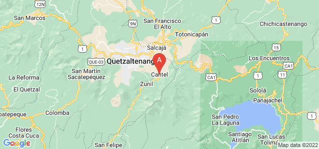 map of Cantel, Guatemala