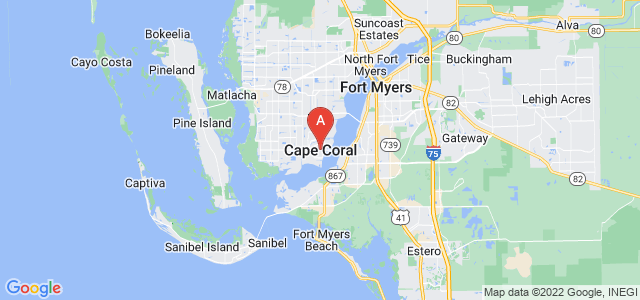 map of Cape Coral, United States of America