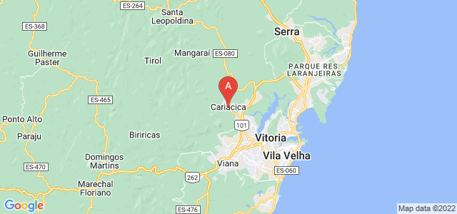 map of Cariacica, Brazil