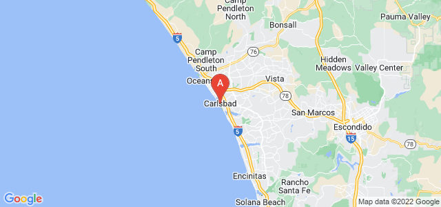 map of Carlsbad, United States of America