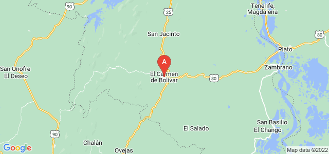 map of Carmen de Bolivar, Colombia