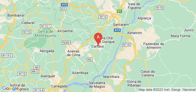 map of Cartaxo, Portugal