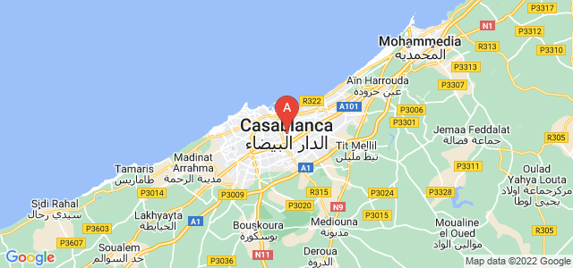 map of Casablanca, Morocco
