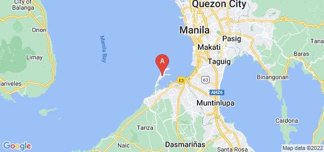 map of Cavite City, Philippines