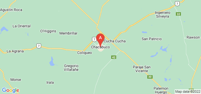 map of Chacabuco, Argentina