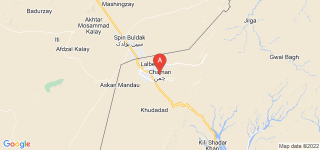 map of Chaman, Pakistan