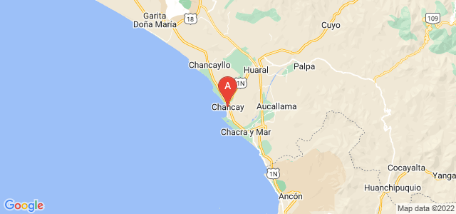 map of Chancay, Peru