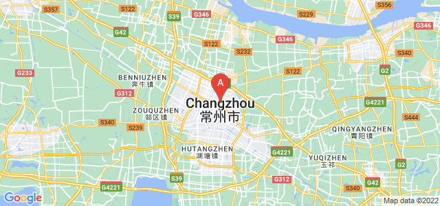 map of Changzhou, China