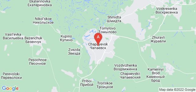 map of Chapayevsk, Russia