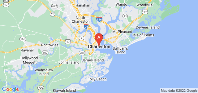 map of Charleston, United States of America