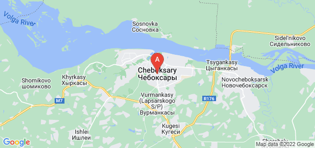 map of Cheboksary, Russia