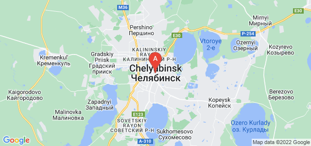 map of Chelyabinsk, Russia