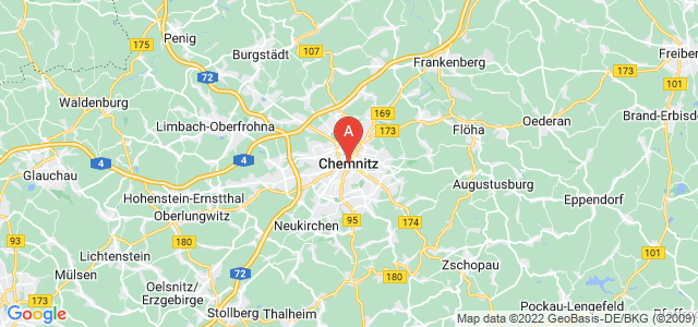 map of Chemnitz, Germany