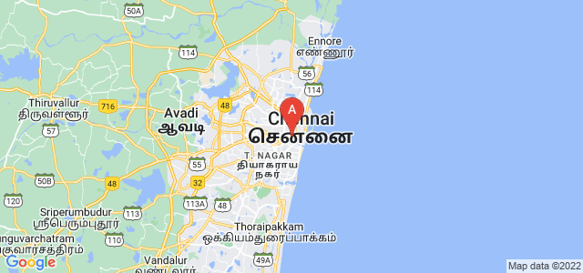 map of Chennai, India