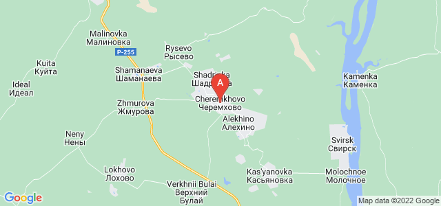 map of Cheremkhovo, Russia