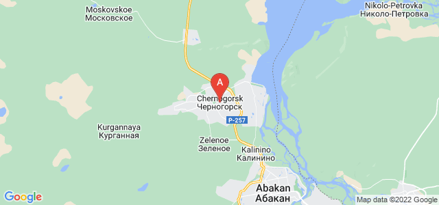 map of Chernogorsk, Russia
