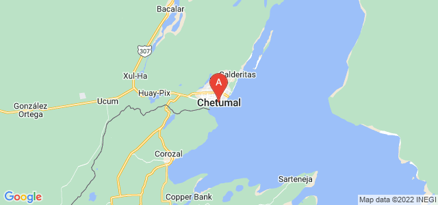 map of Chetumal, Mexico