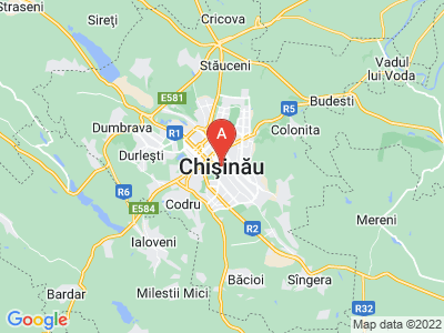 map of Chișinău, Moldova