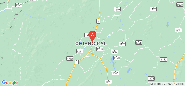 map of Chiang Rai, Thailand