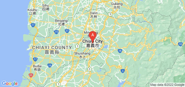 map of Chiayi, Taiwan
