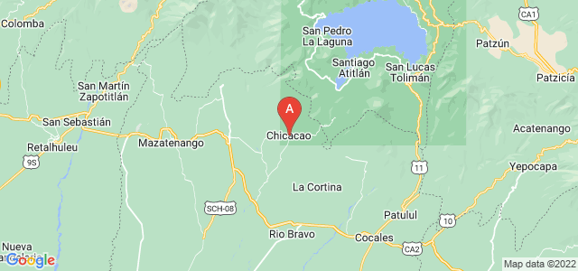 map of Chicacao, Guatemala