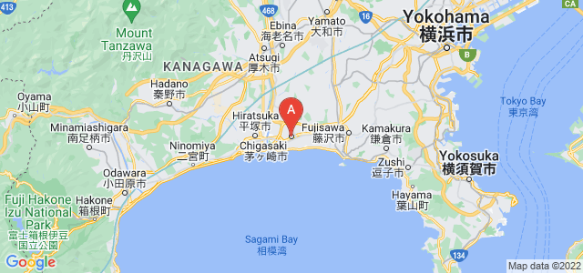 map of Chigasaki, Japan