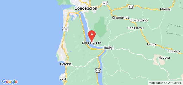 map of Chiguayante, Chile