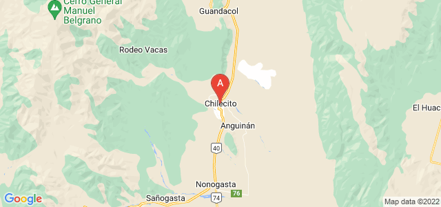 map of Chilecito, Argentina