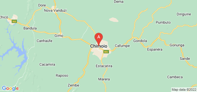 map of Chimoio, Mozambique