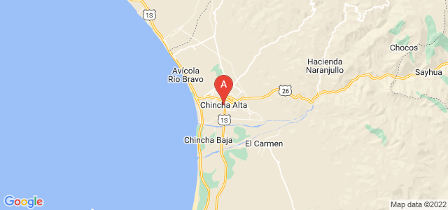 map of Chincha Alta, Peru