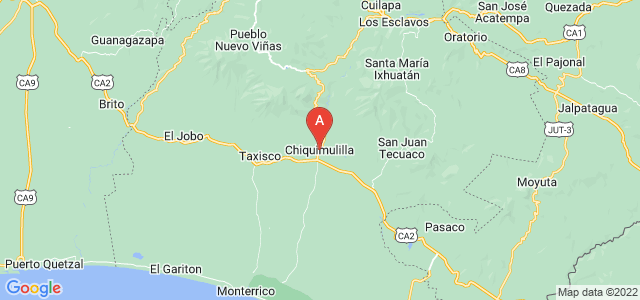 map of Chiquimulilla, Guatemala