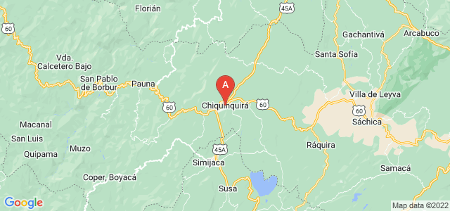 map of Chiquinquirá, Colombia
