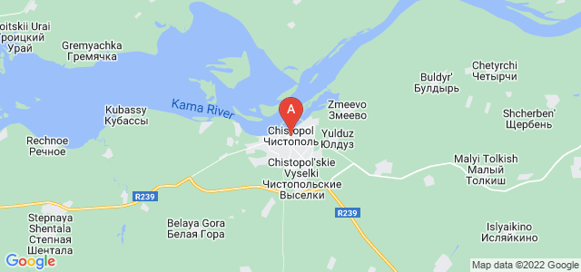 map of Chistopol, Russia