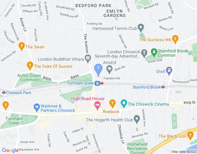 Location map for Chiswick Playhouse