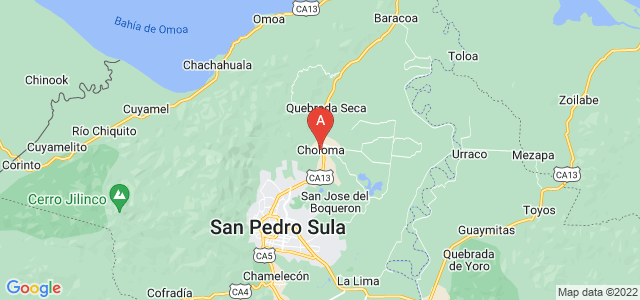 map of Choloma, Honduras