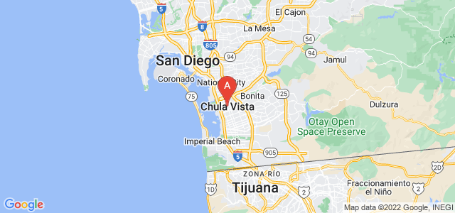 map of Chula Vista, United States of America