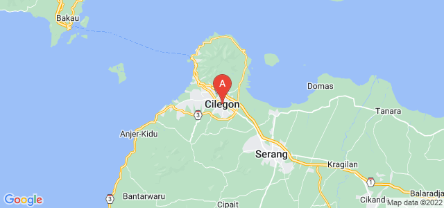 map of Cilegon, Indonesia
