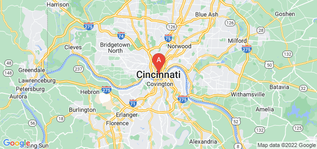 map of Cincinnati, United States of America