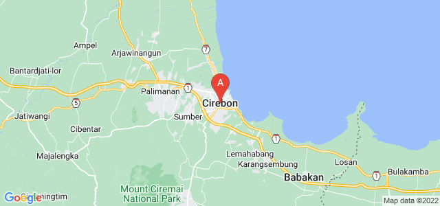 map of Cirebon, Indonesia