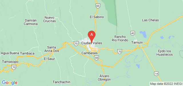map of Ciudad Valles, Mexico