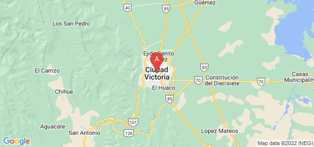 map of Ciudad Victoria, Mexico