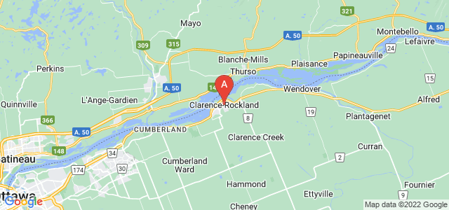 map of Clarence-Rockland, Canada
