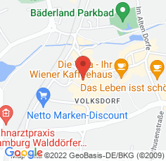 Google Maps / Routenplaner Augentagesklinik HH-Volksdorf
